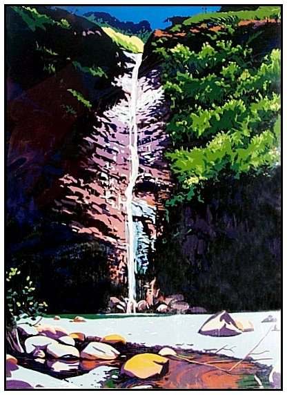 Alii Waterfall Serigraph