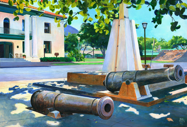 Giclee Lahaina Cannons by Don Jusko