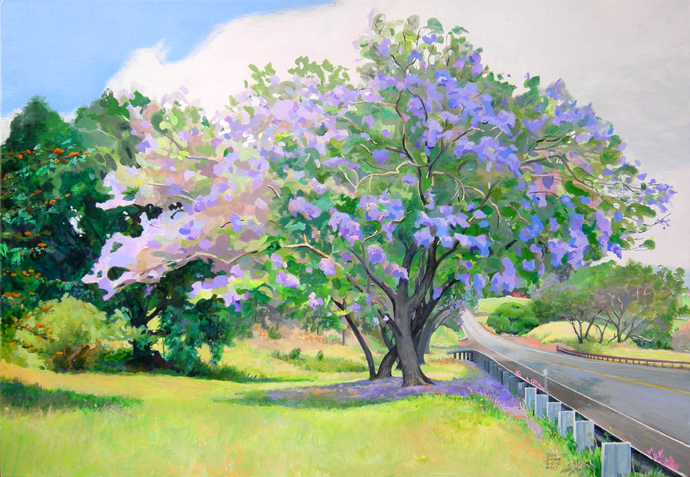 Jacaranda 2009, Lower Kula Road, Maui, Hawaii
