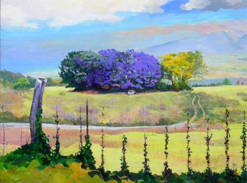 Finished Jacaranda purple and yellow
