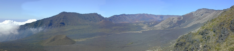 The view from the top of Haleakala looking toward Sliding Sands Trail.
