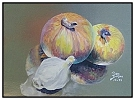 nfs, Onion and Garlic, Pictura Translucida, Mastic on Aluminum, 5.5 x 7.5