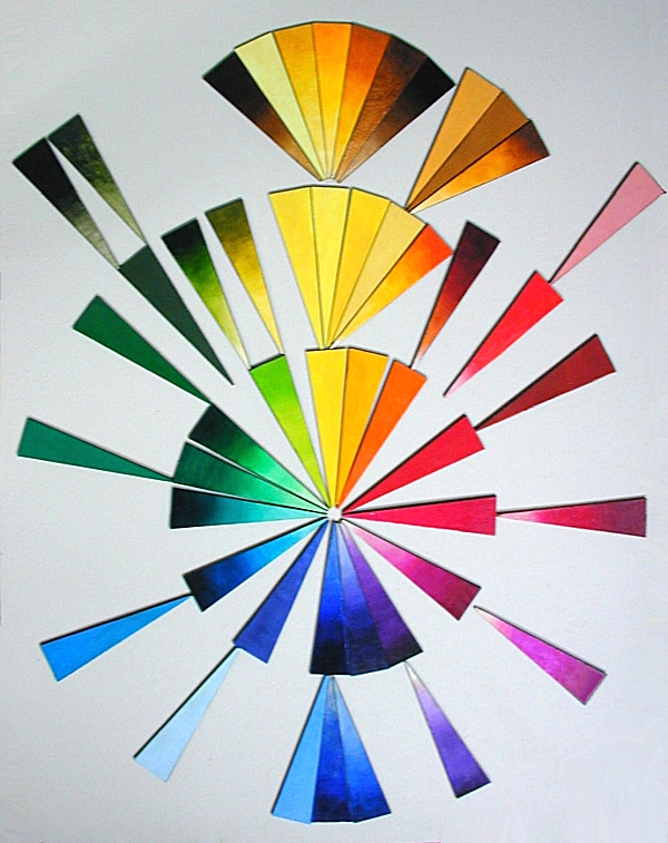 Clickable Pigment Sample ChipChart – Sample Color Wheel Chart