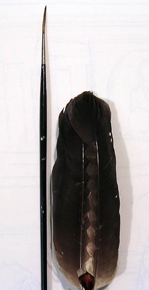 Ancient Tea Ceremony brush feather