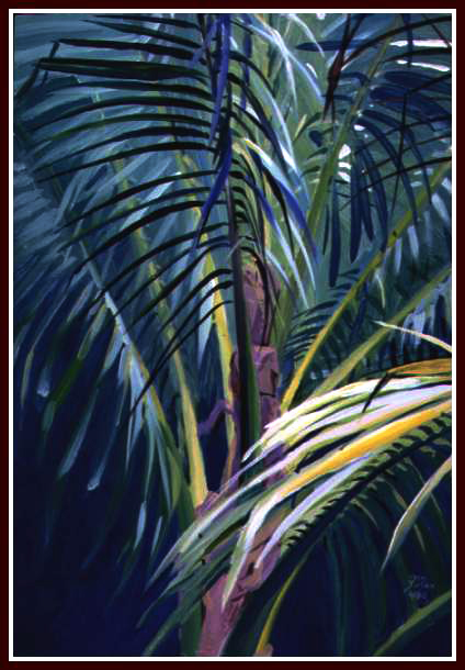15, Palm Fronds, Acrylic