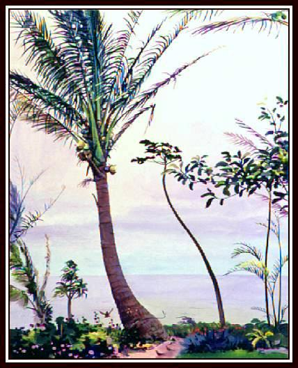 Lahaina Palm 505, Maui, Water Color