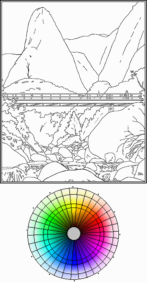 #98, png RCW color wheel and image to color-in.