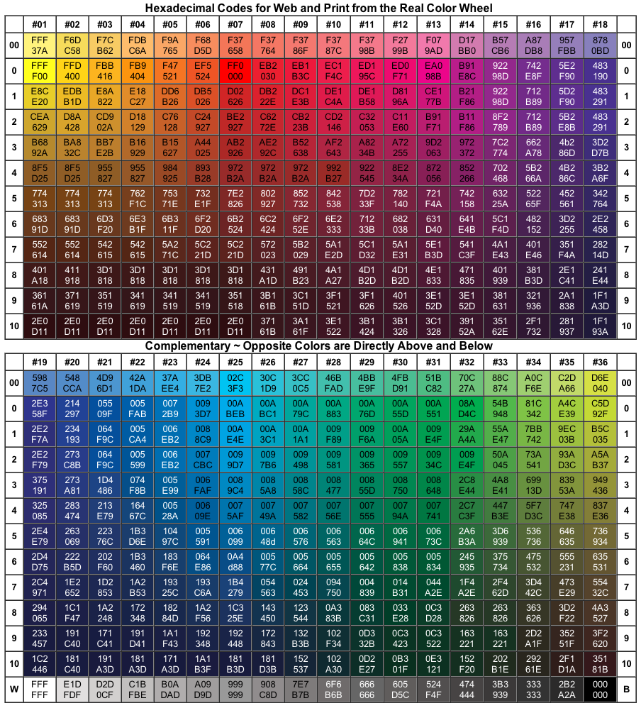 hair color hex codes
